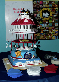 Drum Point Lighthouse Cake made by Becky McCollum of Sugar Rush Cakes and Confections