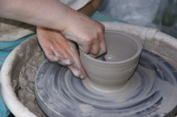 throwing pottery - arts education
